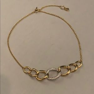 Michael Kors Gold Pave Chain Necklace